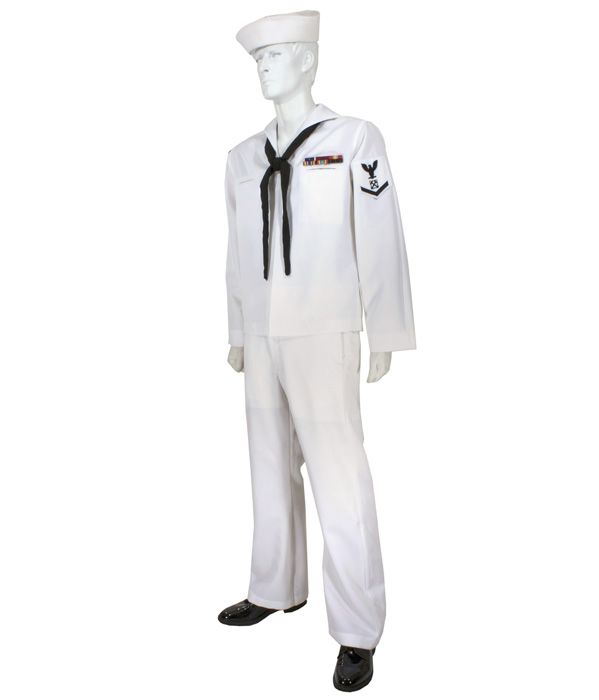 usn enlisted service dress white uniform eastern costume